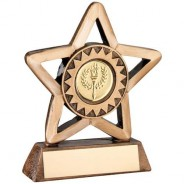 Bronze/Gold Resin Generic Mini Star Trophy