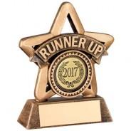 Bronze/Gold Resin 'Runner Up' Mini Star Trophy