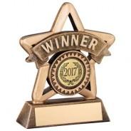 Bronze/Gold Resin 'Winner' Mini Star Trophy