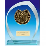Infinity Rugby Glass Trophy