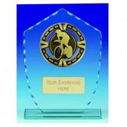 Varsity Cycling Glass Trophy
