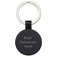 Round Black Keyring