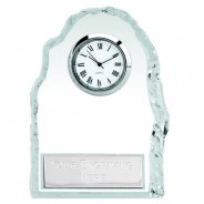 Iceberg Glass Clock with Plate