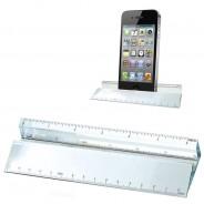 Glass Ruler Paperweight & Phone Holder