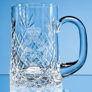 Lead Crystal Sloped Panel Tankard