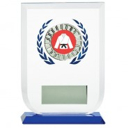Multisport Glass Award with Martial Arts Insert