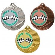 "Motorsport 50mm Medal with 1"" Centre"