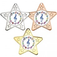 Music Star Shaped Medals
