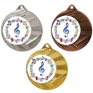 "Music 50mm Medal with 1"" Centre"