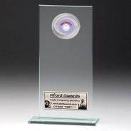 Jade Glass Gladiator Plaque with Netball Insert