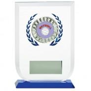 Multisport Glass Award with Netball Insert