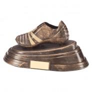 Agility Boot Football Award Antique Bronze & Gold