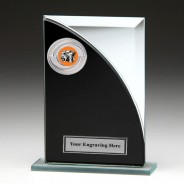 Black & Silver Glass Award with Photography Insert