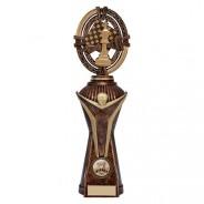 Maverick Chess Heavyweight Award Antique Bronze & Gold