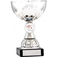 Silver Cup Trophy with Poker Insert