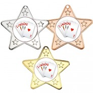 Poker Star Shaped Medals