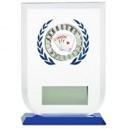 Multisport Glass Award with Poker Insert