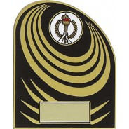 Black and Gold Budget Plaque