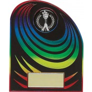 Rainbow and Black Budget Plaque