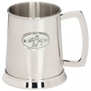 The Rugby Stadia Polished Steel Tankard