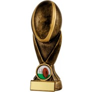 Bronze Rugby Ball Tower Trophy