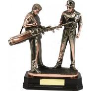 Bronze Golf Figure Trophy