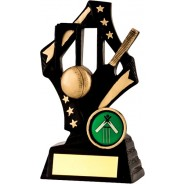 Black / Gold Cricket Star Trophy