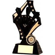 Black / Gold Darts Star Trophy