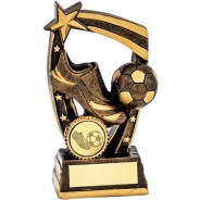 Gold Football Boot and Ball Trophy