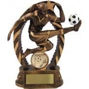 Bronze Female Football Trophy