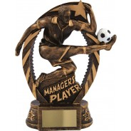 Managers Player Football Trophy