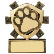 Pet Paw Mini Shield Trophy