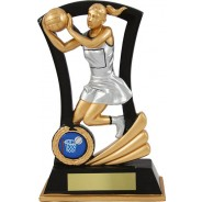 Black and Gold Netball Trophy