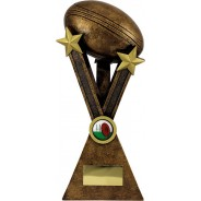 Bronze Rugby Ball Trophy