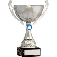 Silver Cup Trophy with Sailing Insert