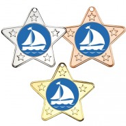 Sailing Star Shaped Medals