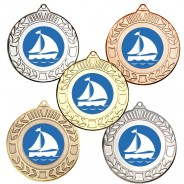 Sailing Wreath Medals