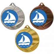 "Sailing 50mm Medal with 1"" Centre"