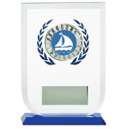 Multisport Glass Award with Sailing Insert