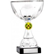 Silver Cup Trophy with Shooting Insert