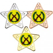 Shooting Star Shaped Medals