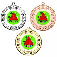 Snooker Tri Star Medals