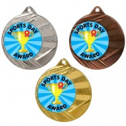 "Sports Day 50mm Medal with 1"" Centre"