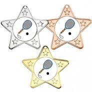 Squash Star Shaped Medals