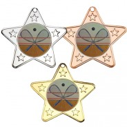 Squash Star Shaped Medals