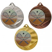 "Squash 50mm Medal with 1"" Centre"