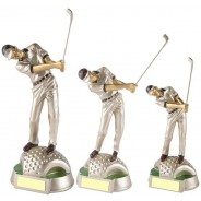 Silver Mens Golf Resin Award
