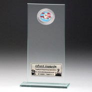 Jade Glass Gladiator Plaque with Swimming Insert