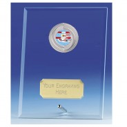Crest Jade Glass Plaque with Swimming Insert