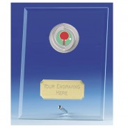 Crest Jade Glass Plaque with Table Tennis Insert